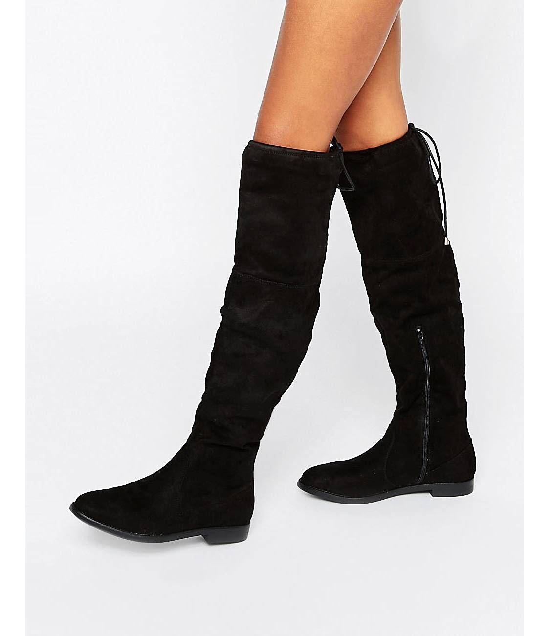 MEGA-Teile von ASOS! | Schwarze stiefel flach, Overknee ...