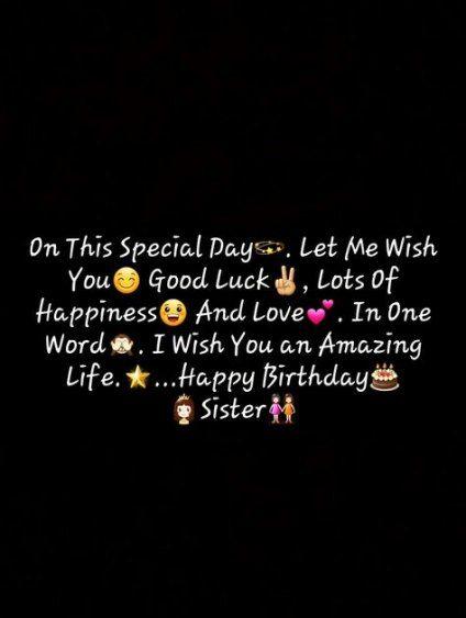 24 Birthday Quotes Happy Birthday Wishes Quotes Birthday Quotes For Best Friend Happy Birthday Sister Quotes