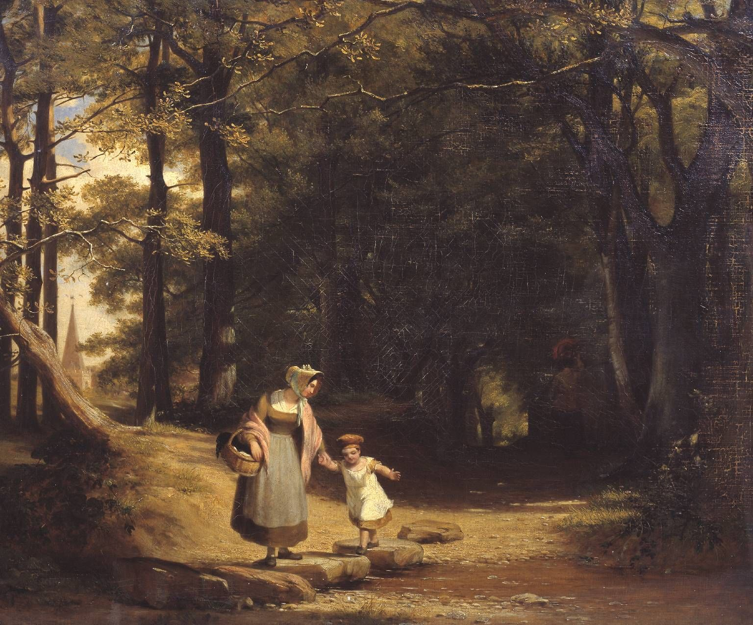William Frederick Witherington - Stepping Stones on the Machno, North Wales - Study from Nature 1844