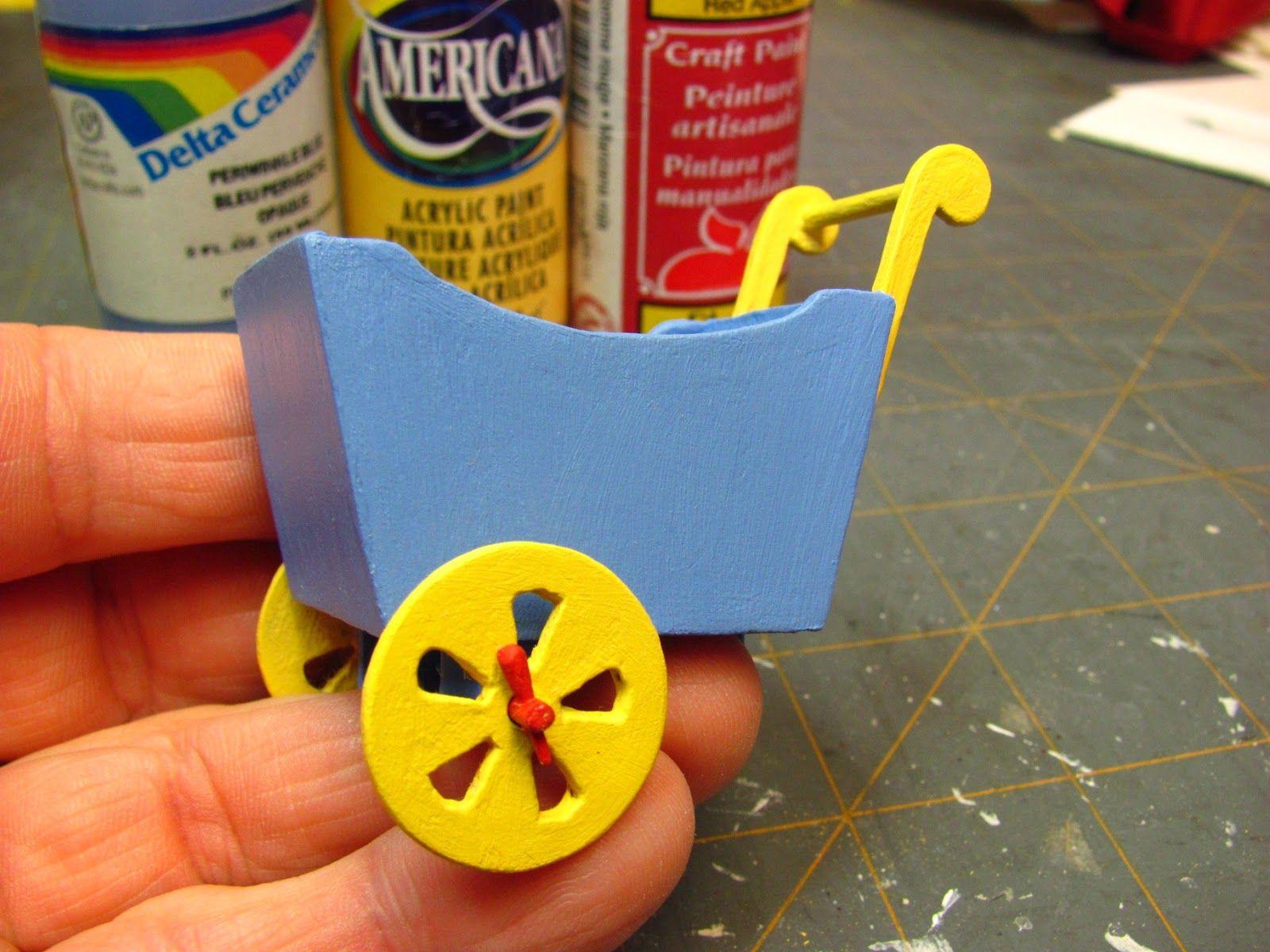 Dollhouse Miniature Furniture - Tutorials | 1 inch minis: Flower wagon