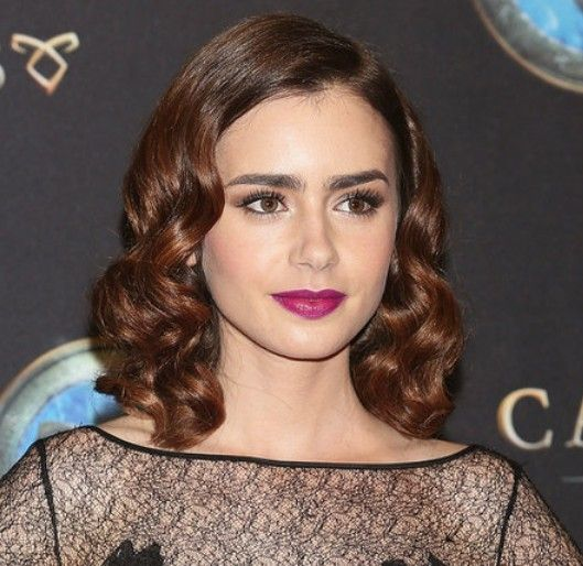 lily collins hair tutorial