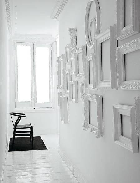 Leere Bilderrahmen Dekorieren unterschiedliche bilderrahmen sammeln und weiss lackieren. | white