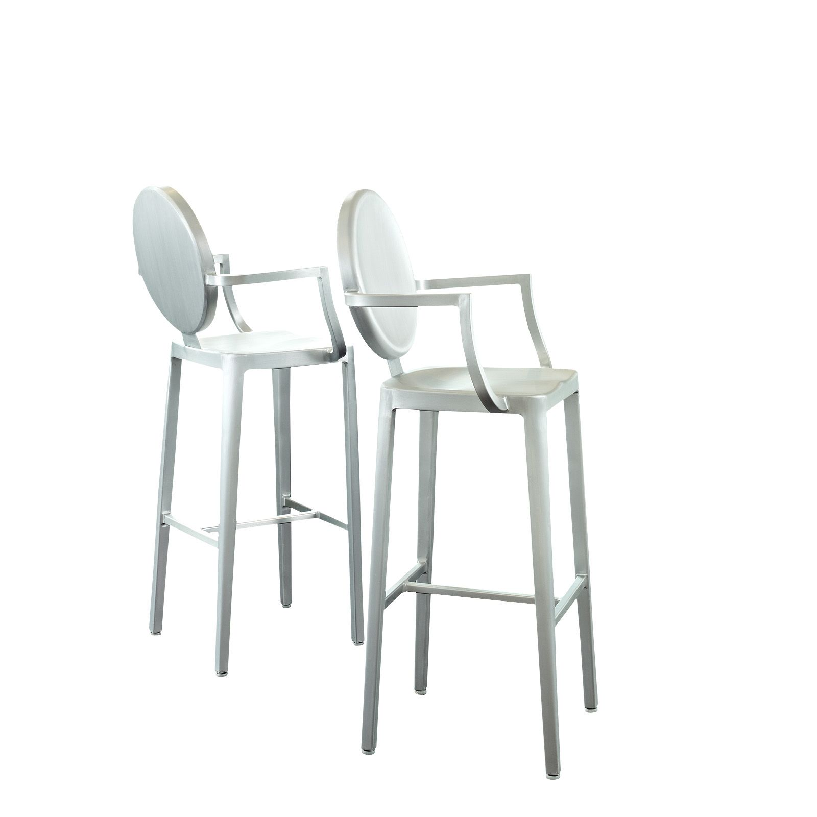 Aluminum Ghost Bar Stool Set in Silver EEI-890 by LexMod. Just the ...