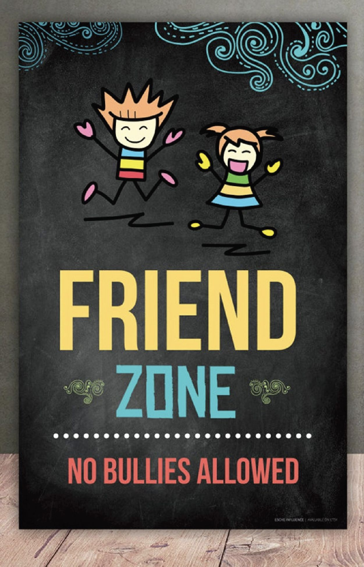 """Photo of """"Friend Zone"""" Anti-Bullying Poster"""