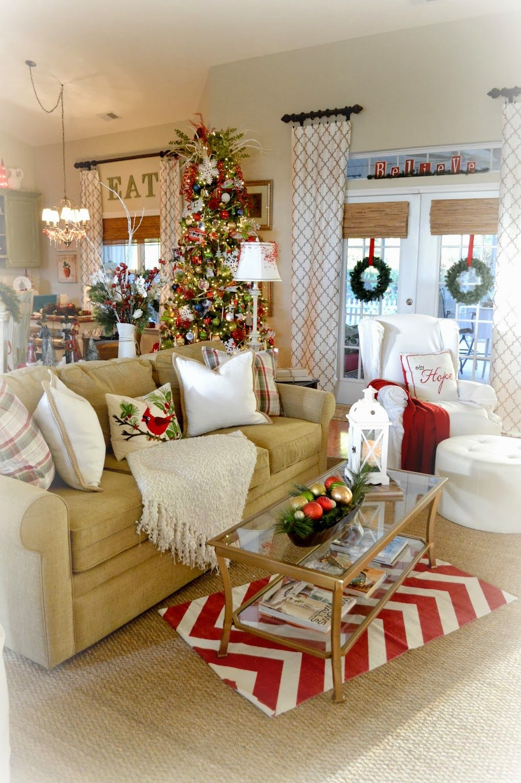 Kitchen Great Room Design: Adventures In Decorating: Our Christmas Great Room And