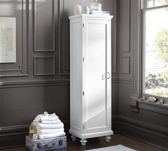 Stuart Linen Closet Pottery Barn Interior Design Bathrooms - Pottery barn bathroom storage for bathroom decor ideas