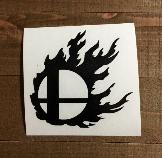 Super smash brothers flaming logo
