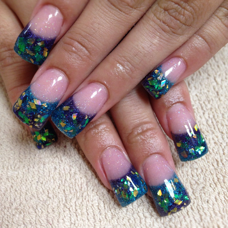 Rockstar Nails By Christee Acrylic Inlays Nails Pinterest