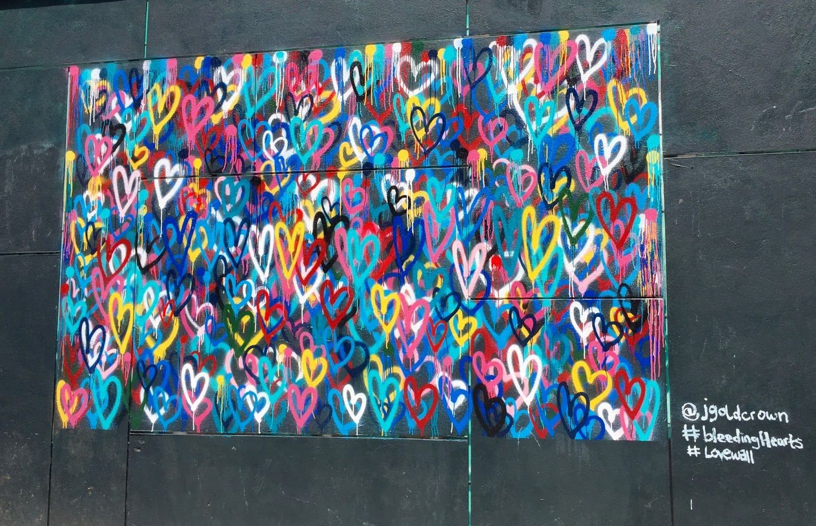 We Love This Heart Graffiti Wall Maybe In Black White And Blush