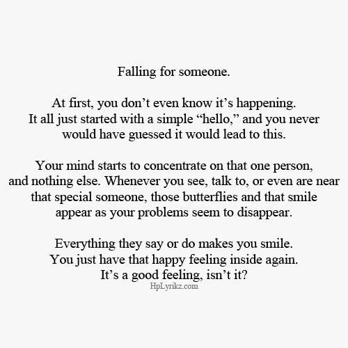 Falling For Someone Quotes Pin by *~Ash.B~* on Food for thought | Love Quotes, Quotes  Falling For Someone Quotes