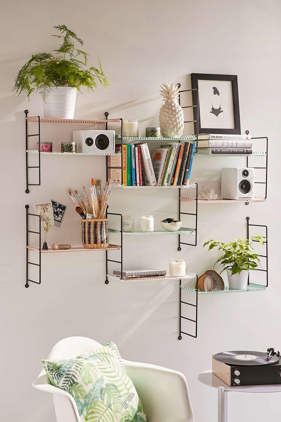 Adjustable Perforated Shelf Wall Shelves Living Room Li