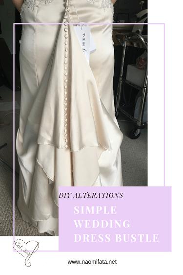 One Point Wedding Dress Bustle Diy Slipcovers And Alterations Wedding Dress Bustle Diy Wedding Dress Bustle Wedding Gown Bustle
