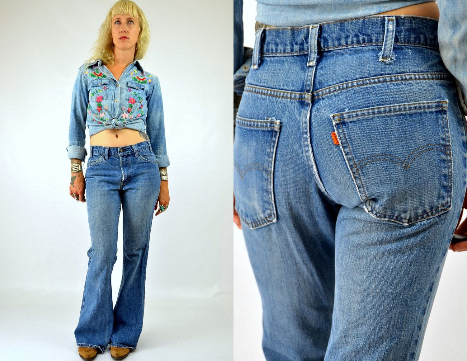 70s Levis 684 Bell Bottoms 684 Orange Tag Bell Bottom Jeans 30x30 ...