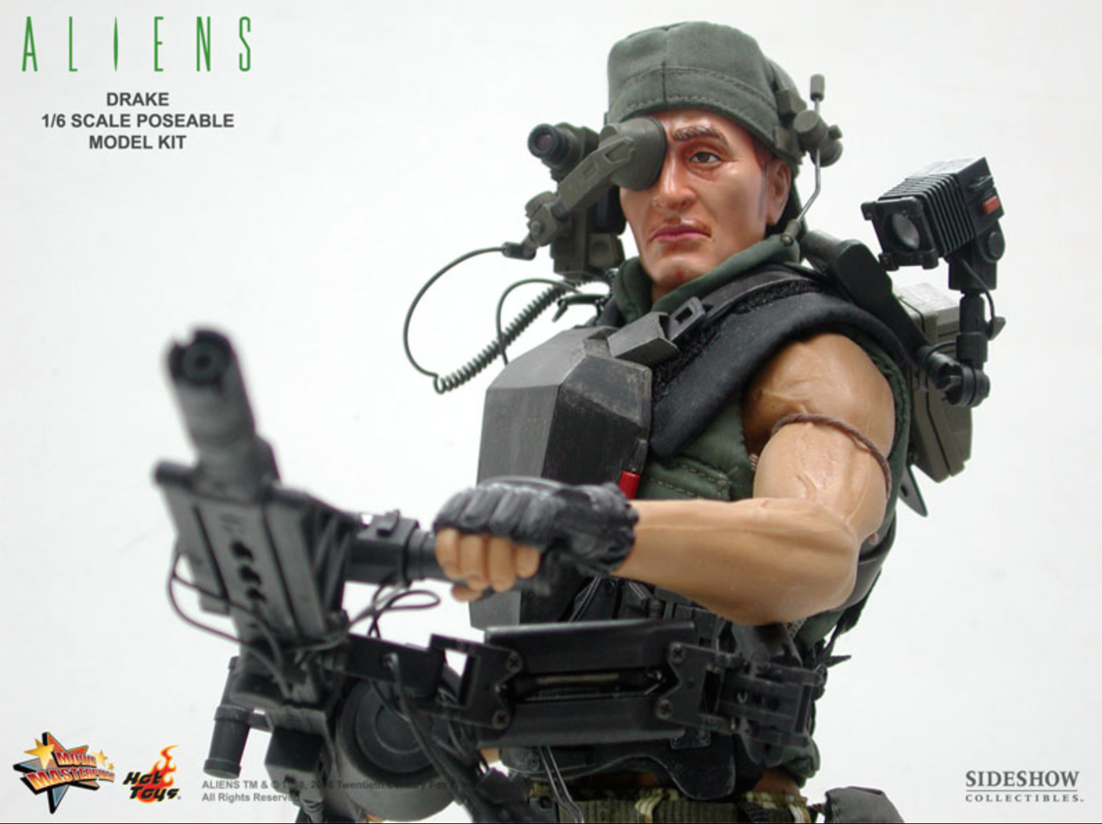 1//6 Hot Toys Aliens Colonial Marines Drake Vasquez Smart Gun Head Mount Sight