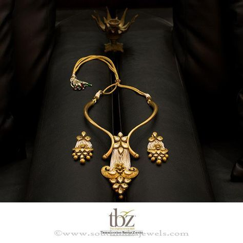 84458e218 Gold Designer Necklace Set from TBZ | swe | Jewelry, Gold necklace ...