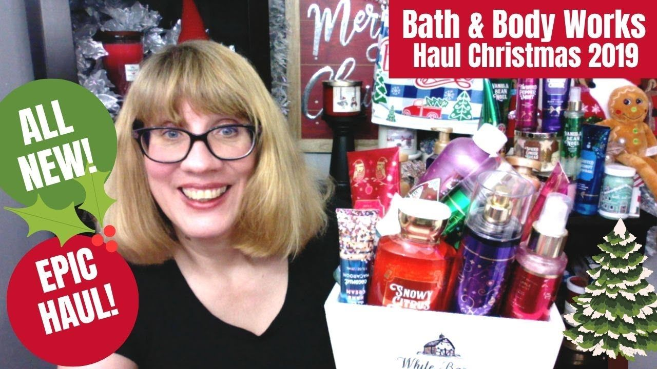 Huge bath body works haul christmas 2019 i got