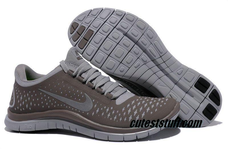 competitive price 555a1 41d3e  49.78 Womens Nike Free 3.0 V4 Coffee Reflect Silver Iguana Shoes