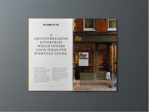 Editorial Design Evtl Grosse Typo Li Neben Bild Anderer Font Unten Mehr Fliesstext Editorial Design Design Bilder