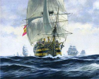 Carlos Parrilla Penagos, En alta mar.