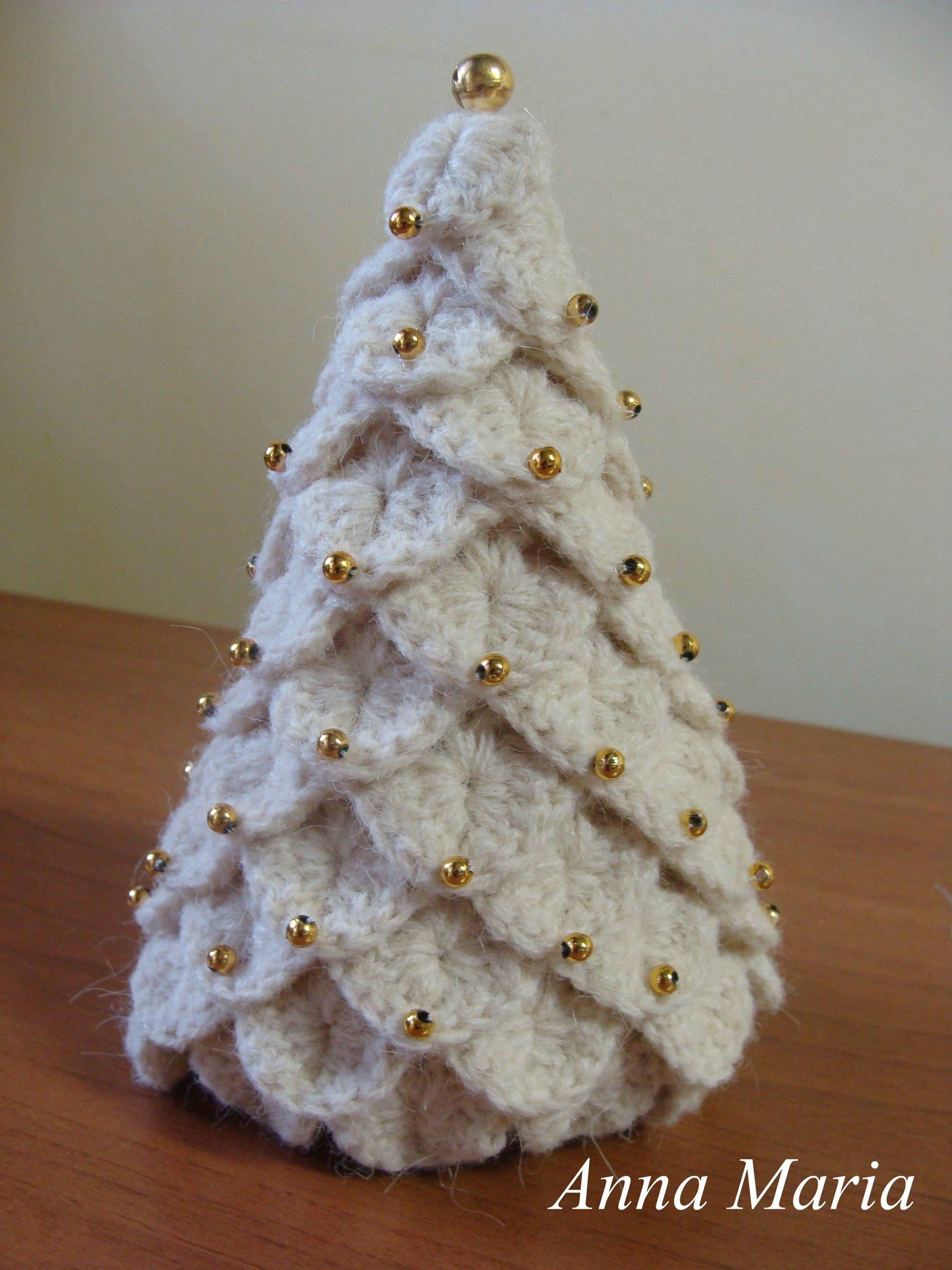 Addobbi Natalizi Uncinetto Tutorial.Albero Di Natale A Punto Coccodrillo Novyj God Alberi Di Natale