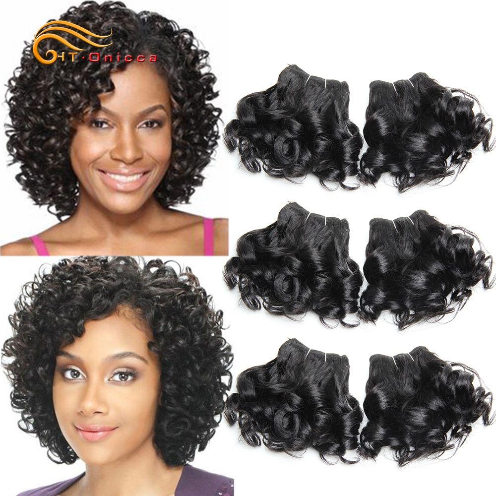 6 Pcs Lot Curly Human Hair Bundles Brazilian Hair Weave Bundles 8 Inch 1b 2 4 30 99j Ombre Hair Bundles Short Hair Extensions Brazilian Hair Weave Weave Hairstyles Hair Extensions For Short Hair