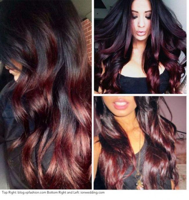Ombré hair sur base brune la couleur qui cartonne en
