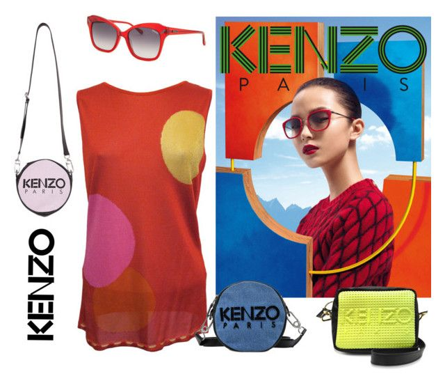 """""""KENZO COLORS LIVE"""" by nurinur ❤ liked on Polyvore featuring Kenzo"""