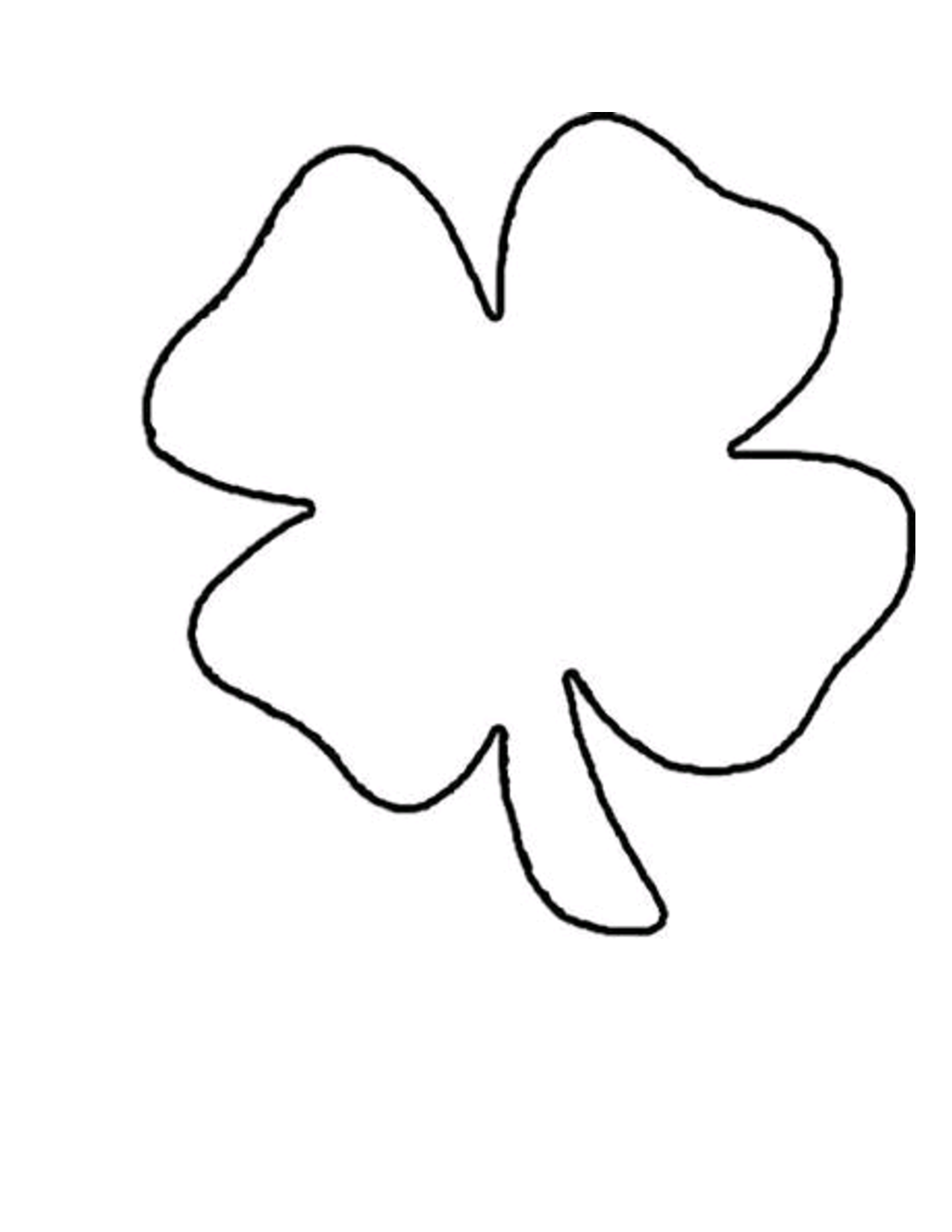 Free coloring pages shamrock - Shamrock Templates Printable Shamrock Template
