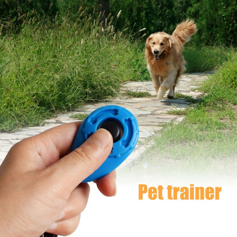 1x Pet Dog Puppy Training Button Clicker Obedience W Wrist Strap