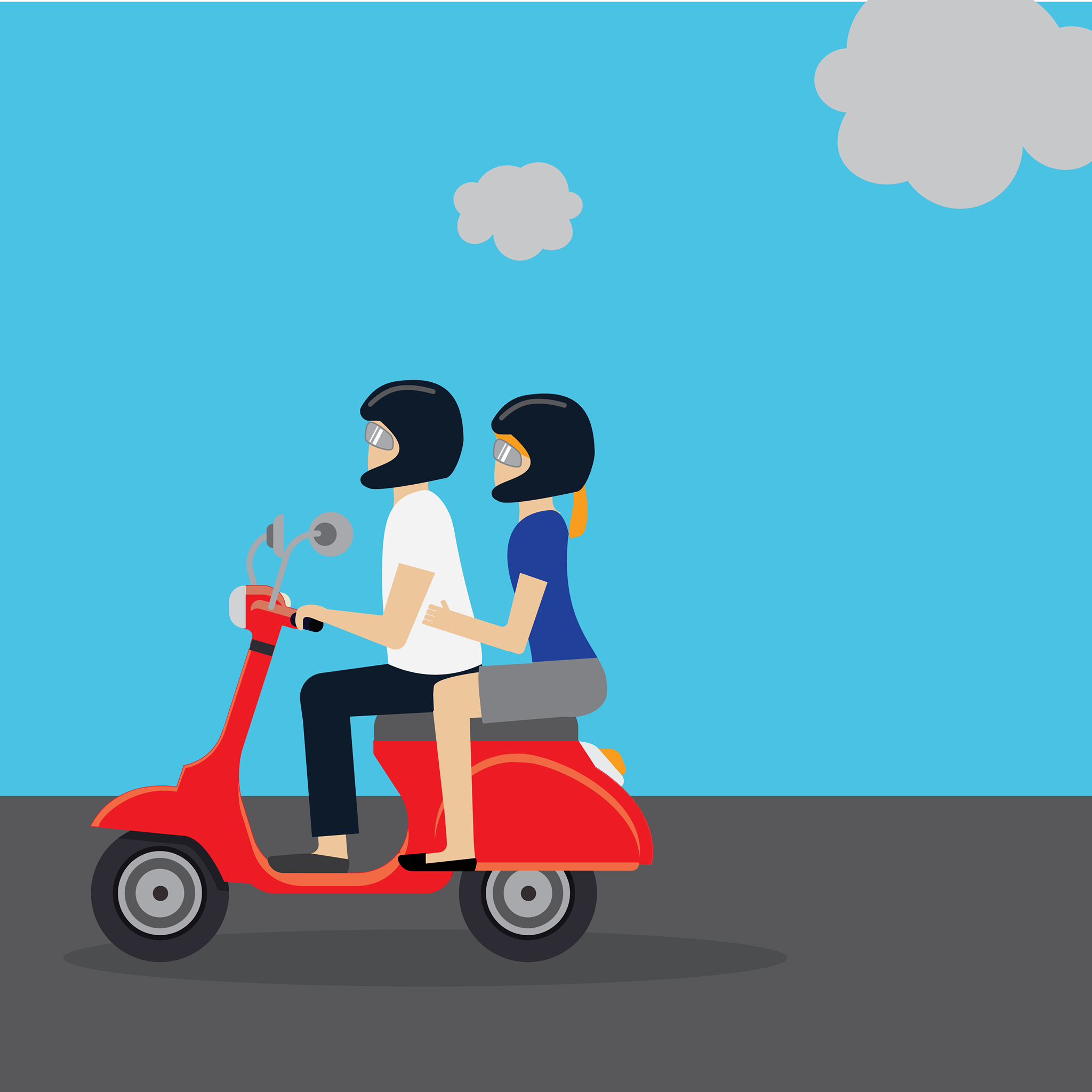 Travel insurance illustrations by Fee for Allianz Global
