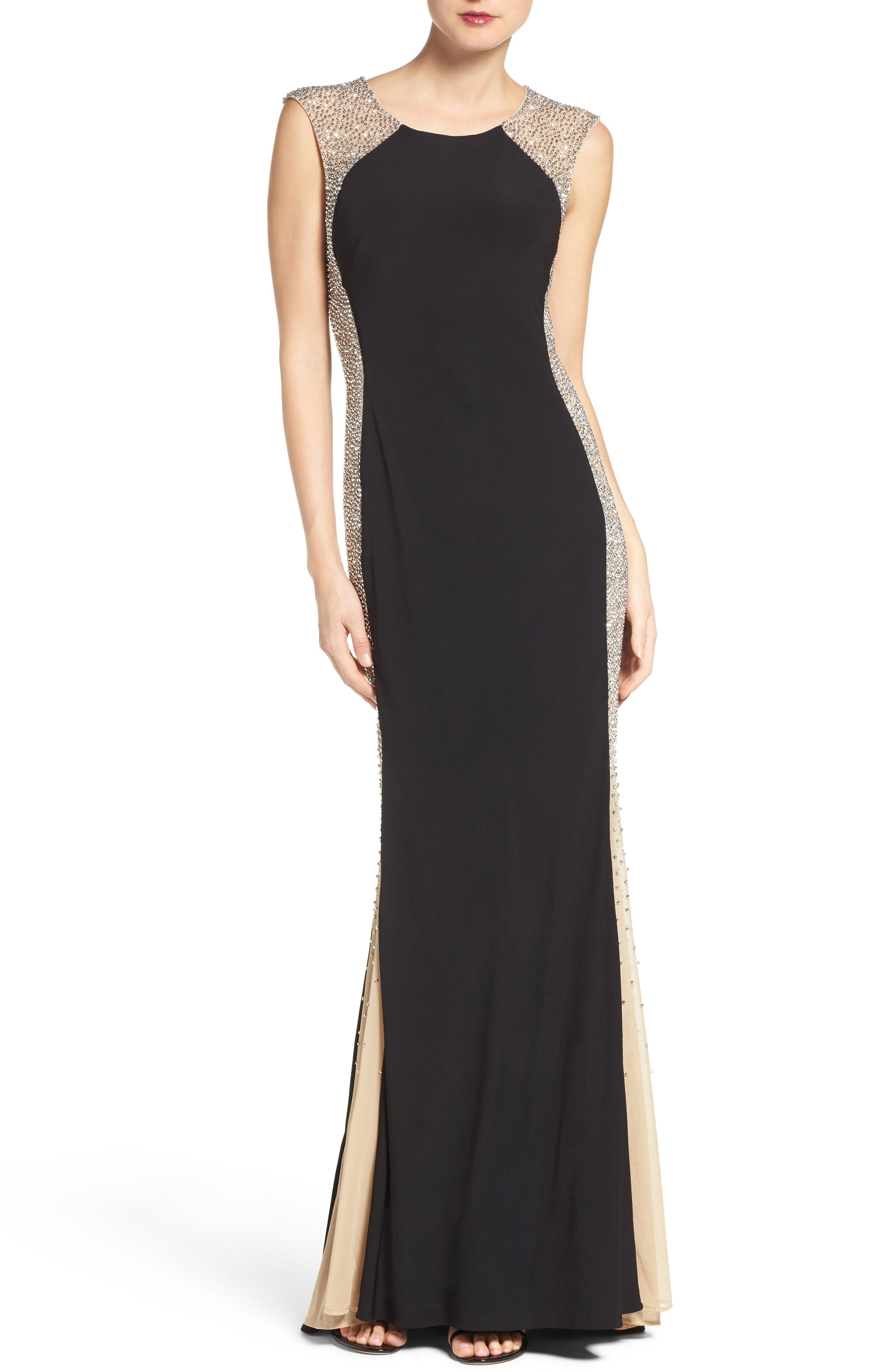Xscape beaded cutout halter gown dresses women macys