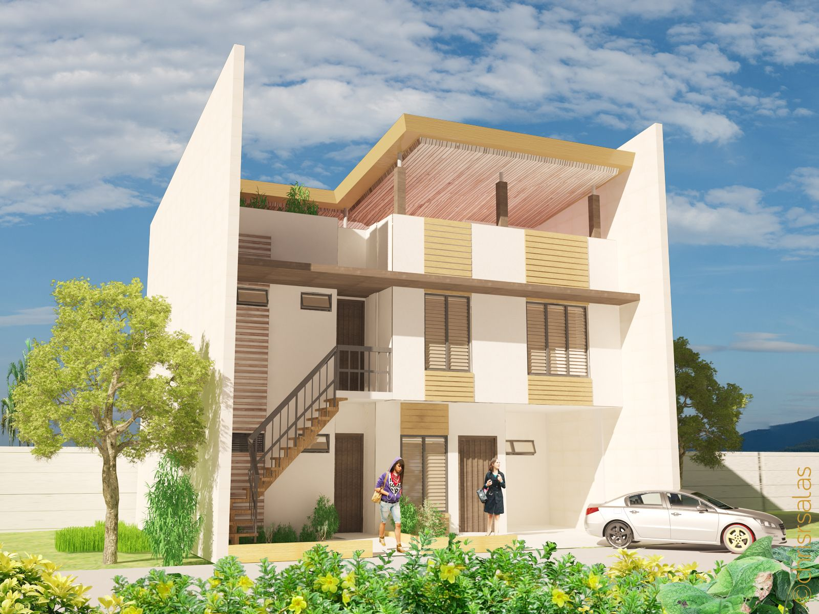 Crib for sale in davao city - Casa Uno A Two Storey Townhouse With Roof Deck And Two Units Of Bachelor S Pad Located At Davao City The First House That Was Commissioned To Me