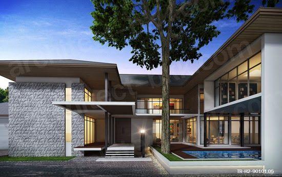 Tropical Resort Style แบบบ านสองช น แบบบ านช นเด ยว ไสตล ทรอป คอล ทรอป คอลร สอร ท ร ปแบบบ าน สถาป ตยกรรมบ าน แบบบ านโมเด ร น