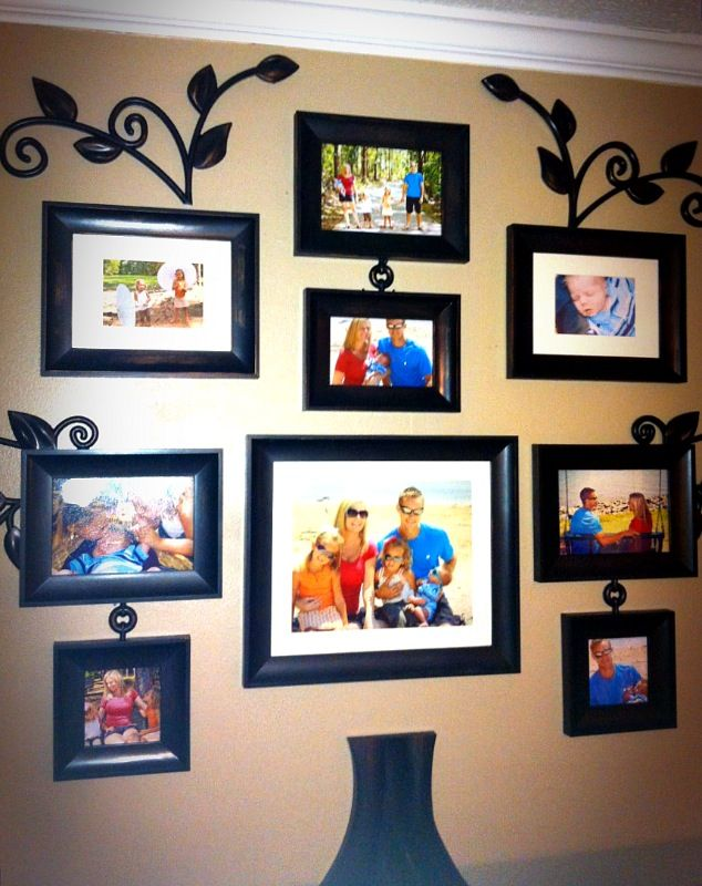 Family Tree Collage Picture Frames Family Tree Collage Family Tree Designs Home Decor Different types of picture frames