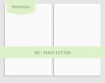 Dot Grid  Dotted Filler Paper Printable Planner Inserts  A