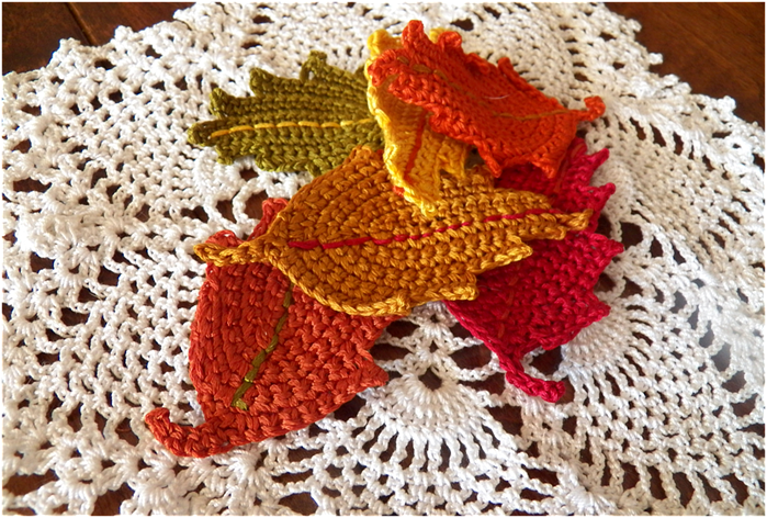 Art Threads: Monday Project - Crocheted Fall Leaves | crochet ...
