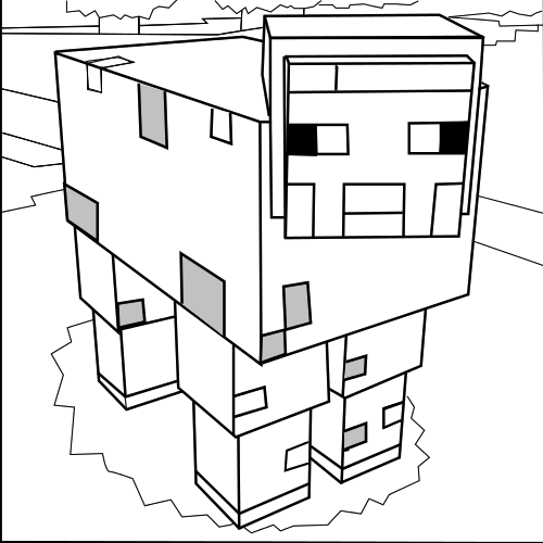 Minecraft Sheep Provide Wool Which Can Be Dyed Various Colours Minecraft Para Colorir Desenho Colorir