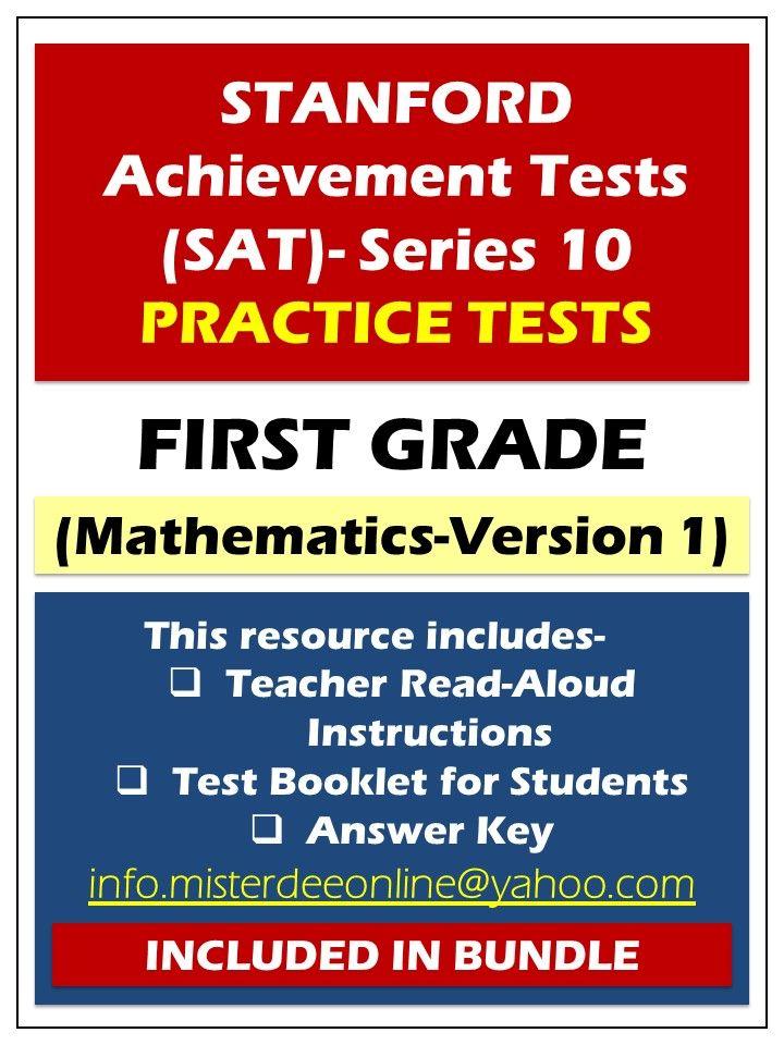 stanford achievement test first grade