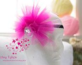 Don't Stop Me Now Pink Tulle Crown Headband