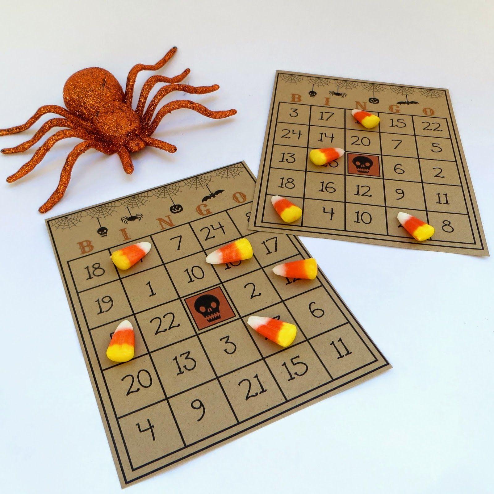Halloween Party Games Vintage Bingo Candy Corn Fall
