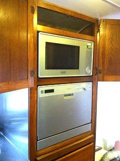 Dishwasher installed in an Airstream