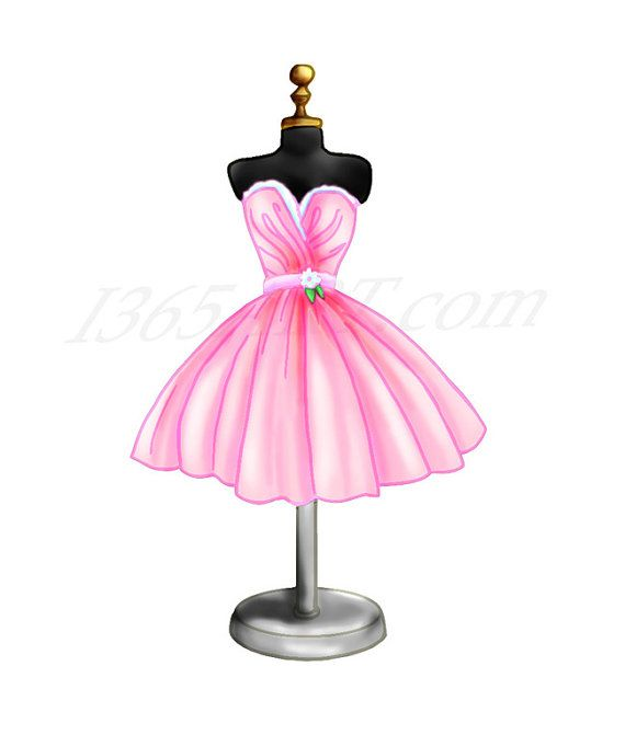 Pink Dress Cocktail Clip Art