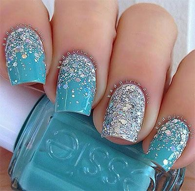 15 Disney Frozen Themed Inspired Nail Art Design Ideas Trends Stickers 2014 4 Jpg 400 391 Pixels Frozen Nail Art Nails Trendy Nails