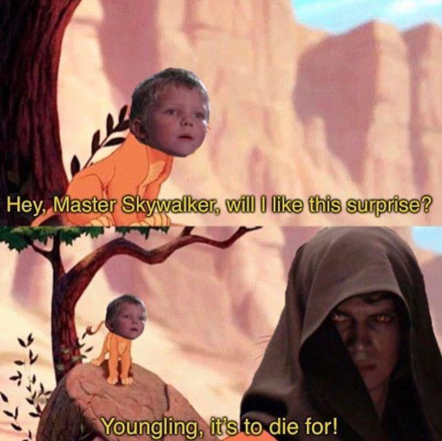 Kylo Ren Memes On Instagram Anakinskywalker Anakin Skywalker Younglings Thelion Lionking Darkside Theda Star Wars Star Wars Memes Fear Leads To Anger