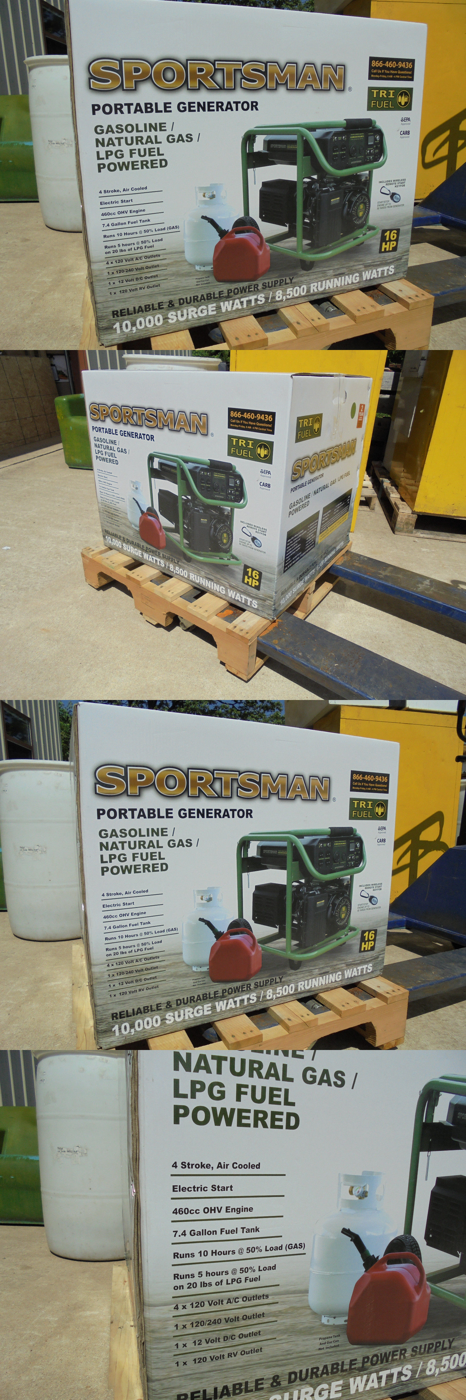 Generators New Sportsman 10 000 Watt Tri Fuel Powered