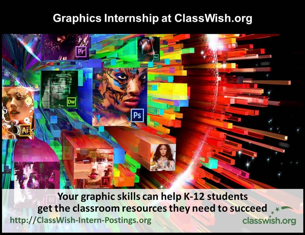 Classwish Org Offers Great Internships And Volunteer Opportunities In Nyc Or Working Remotely Graphic Design Careers Graphic Design Internship