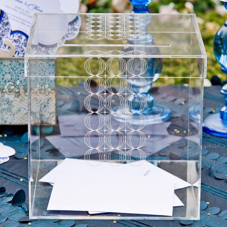 Circle Of Love Lucite Wedding Card Box Personalization Options – Wedding Card Box Alternatives