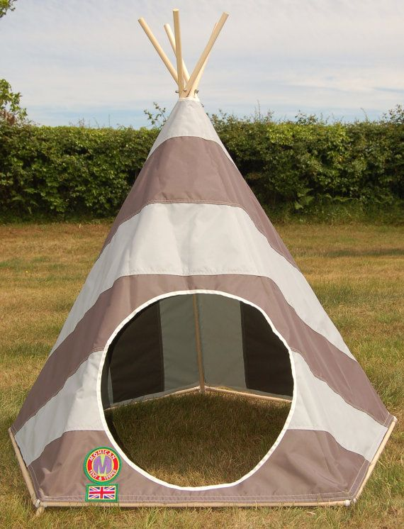 Indoor / Outdoor Childrens Stripy Teepee / Play Tent - Hand Made in UK. $306.17 & Indoor / Outdoor Childrens Stripy Teepee / Play Tent - Hand Made ...