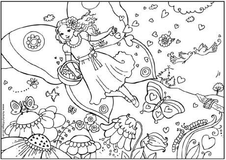 valentine fairy colouring page valentines day colouring page - Colouring In Pics