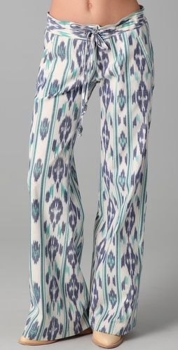 GEORGIE- St. Bart's in Teal and Blue Ikat. Available at @Shopbop